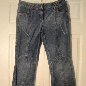 Designer D&G Blue Flare Leg Italian Denim Jeans 32